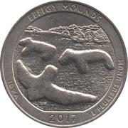 ¼ Dollar ''Washington Quarter'' (Effigy Mounds National Monument) -  revers