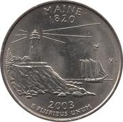 """¼ Dollar """"Quarter Maine"""" (cupronickel) -  revers"""