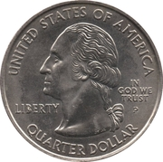 "¼ Dollar ""Quarter Indiana"" (cupronickel) -  avers"