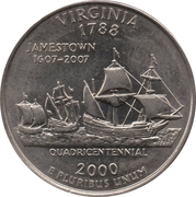 "¼ Dollar ""Quarter Virginia"" (cupronickel) -  revers"
