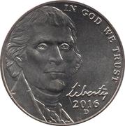 """5  cents """"Jefferson Nickel"""" (Retour à Monticello) -  avers"""