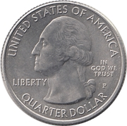 "¼ Dollar ""Quarter Missouri"" (cupronickel) -  avers"