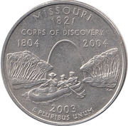 "¼ Dollar ""Quarter Missouri"" (cupronickel) -  revers"