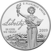 "100 Dollars ""American Platinum Eagle"" (Bullion Coinage) – avers"