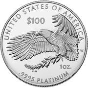 "100 Dollars ""American Platinum Eagle"" (Bullion Coinage) – revers"