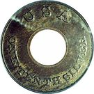 """1 Cent """"Ring Cent"""" (Pattern) – avers"""
