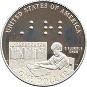 1 dollar Louis Braille -  revers