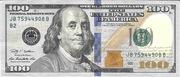 100 Dollars (Federal Reserve; série colorisée) – avers