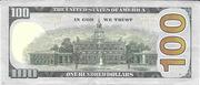 100 Dollars (Federal Reserve; série colorisée) – revers