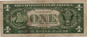 1 Dollar (Small Size Silver Certificate; Blue Seal; With Motto) -  revers