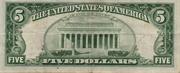 5 Dollars (Red Seal; 1963 Series) -  revers