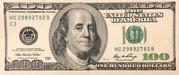 100 dollars – avers