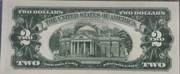 2 Dollars (Small Size United States Note; Red Seal Right; With Motto) -  revers