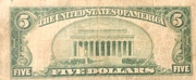 5 Dollars (Small Size Federal Reserve Bank Note) -  avers