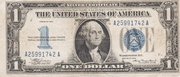 1 Dollar (Silver Certificate; Blue Seal and 1) -  avers