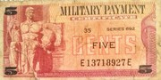 Series 692 5 Cent Military Payment Certificate – avers