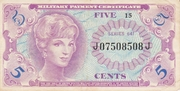 5 Cents - Military Payment Certificate - Series 641 – avers