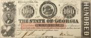 100 Dollars (Milledgeville, Ga) – avers
