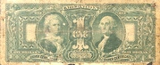 1 Dollar (Large Silver Certificate; Red Seal) – revers