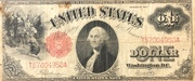1 Dollar (Large note; Red Seal) – avers