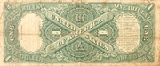 1 Dollar (Large note; Red Seal) – revers