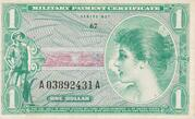1 Dollar- Military Payment Certificate - Series 651 -  avers