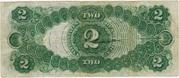 US 2 dollar bill 1917 -  revers