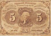 5 Cents - Fractional Currency First Issue (Postage Currency) – avers