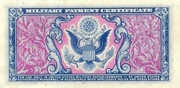25 Cents Military Payment Certificate Series 481 – revers