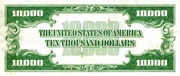 10,000 Dollars (Federal Reserve Note - Small Portrait) – revers