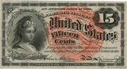 15 Cents - Fractional Currency - Forth Issue – avers
