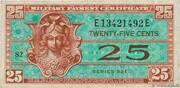 25 Cents - Military Payment Certificate - Series 521 – avers