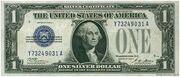 1 Dollar (Silver Certificate; Blue Seal Left) – avers