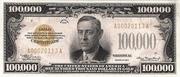 100,000 Dollars (Gold Certificate) – avers