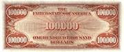100,000 Dollars (Gold Certificate) – revers