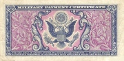5 Cents - Military Payment Certificate - Series 481 – revers