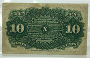 10 Cents - Fractional Currency- Series of 1863 – revers