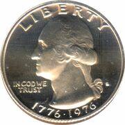 """¼ Dollar """"Washington Bicentenial Quarter"""" (cupronickel) -  avers"""