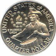 """¼ Dollar """"Washington Bicentenial Quarter"""" (cupronickel) -  revers"""
