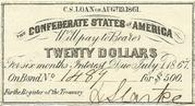 $20 C.S. Loan - United States – avers