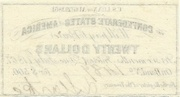 $20 C.S. Loan - United States – revers