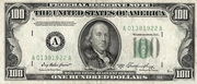 100 Dollars (Federal Reserve Note; small portrait; no motto) – avers