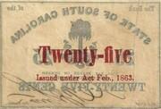 25 Cents (South Carolina) – revers