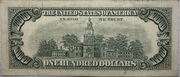 100 Dollars (Federal Reserve Note; small portrait; with security thread) – revers