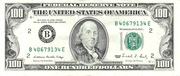 100 Dollars (Federal Reserve Note; Small Portrait) – avers