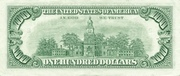 100 Dollars (Federal Reserve Note; Small Portrait) – revers