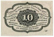 "10 Cents (""Postage Currency"" - 1st issue) – revers"