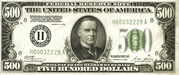 500 Dollar Note (Federal Reserve) – avers