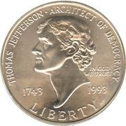 1 Dollar - Thomas Jefferson -  avers