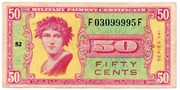 50 Cents Military Payment Certificate Series 541 – avers